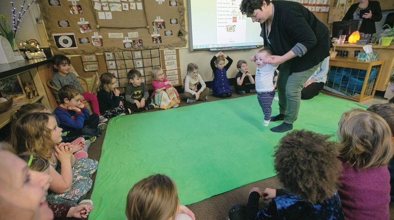 Roots of Empathy Program at E'cole Willows Elementary ~ Photograph by Adrian Lam, Times Colonist